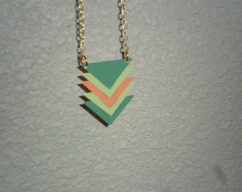 Upcycled Paint Chip Necklace