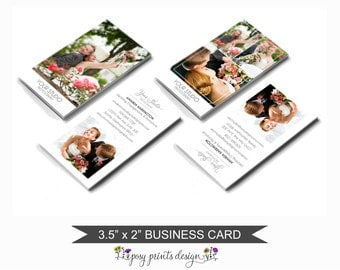 Photography Business Card Template - Photographer Marketing - Photoshop Design for Photographers - BCT03