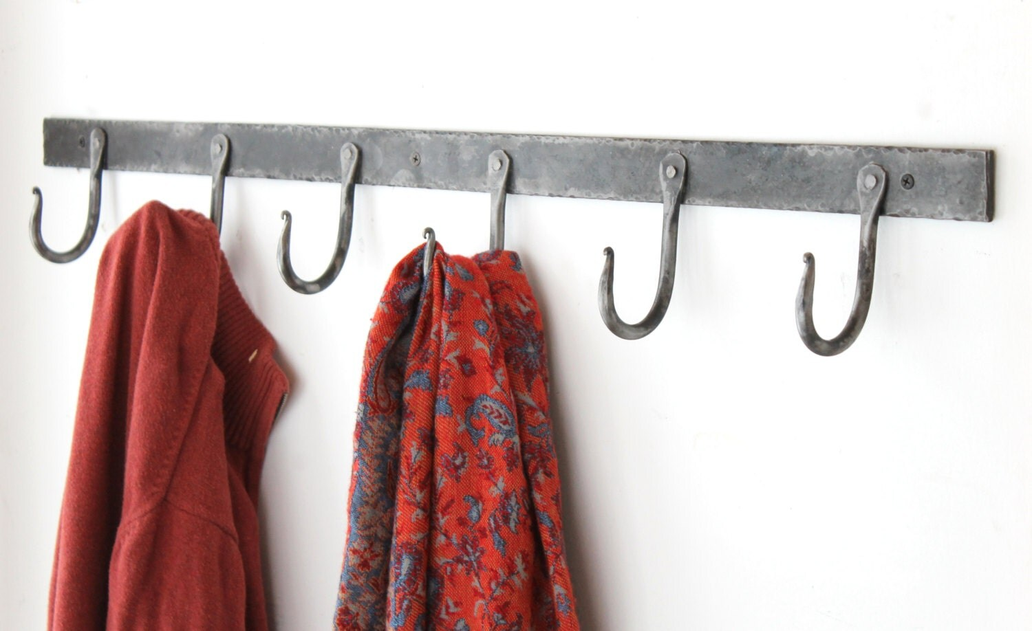 36 Rustic Hand Forged Coat Hook Rack By Blackdogironworks