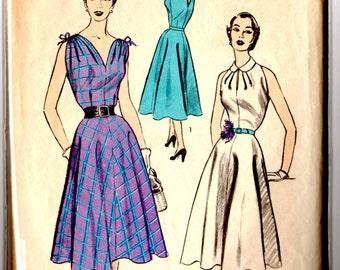 6398 Advance Dress Pattern 1950's Complete