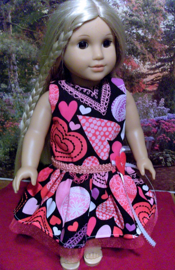 Valentine's dress #4 for American Girl 18 inch dolls
