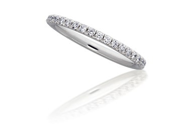 Micropave Diamond Eternity Band in 14kt White Gold 2mm 0.50ct. Wedding Band Wedding Ring Diamond Band Stackable Ring Thin Band Thin Ring