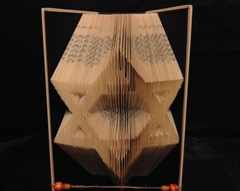 Book Folding-Star Of David-Hanukkah Gift-Unique Gift