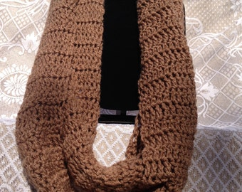 Cafe Latte Infinity Scarf