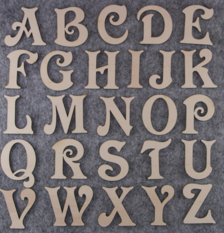 victoria font alphabet set 3mm plywood capital letters a