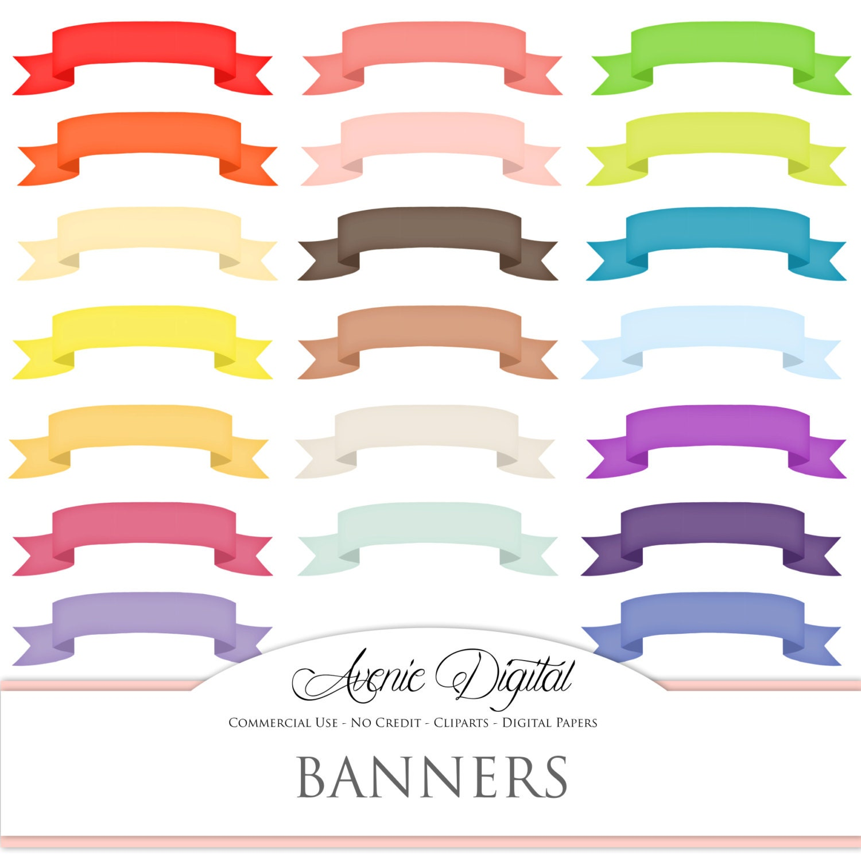 ribbon banner clipart scrapbooking printables  rainbow ribbon banner clipart red ribbon banner template clipart