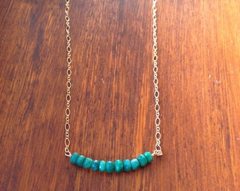Emerald Faceted Necklace