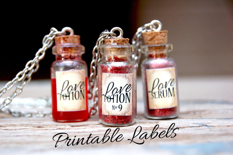 Love Potion Bottle Necklace