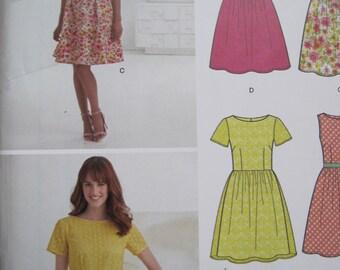 UNCUT Misses Dress - Size 10, 12, 14, 16, 18, 20, 22 - Simplicity New Look Pattern 0981