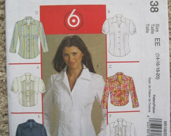 UNCUT Misses / Miss Petite Shirts in Two Lengths - McCalls Pattern M5138