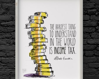 Poster with Einstein quote