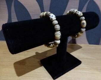 Horn Bead Bracelet