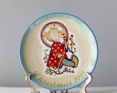 "Hummel Christmas Plate 1975 West Germany by Sister Berta Hummel Christmas Child 8"" plate, Vintage Christmas Plate,Christmas Decorative Plate"