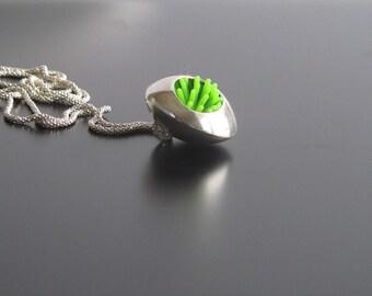 Modern art jewelry, modern art necklace,  green modern pendant , modern pendant, original pendant,  elegant pendant necklace by juli711.