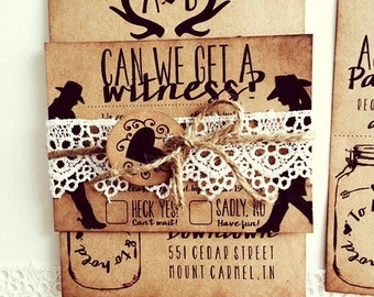 Wedding Invitation: Rustic Southern Country Charm