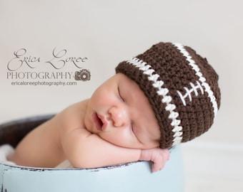 Baby Boy Hat, Ready to Ship, Football Beanie, Crochet Baby Hat, Football Hat, Baby Newborn Hat, Baby Hat, Newborn Prop, Baby Boy Beanie