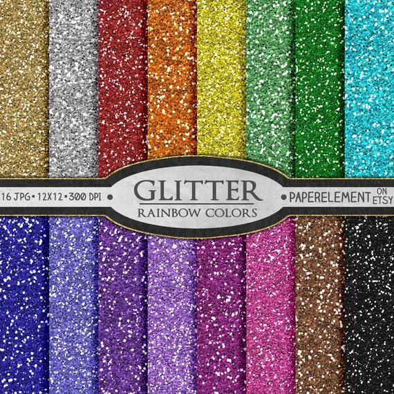 Gratifying image with printable glitter paper