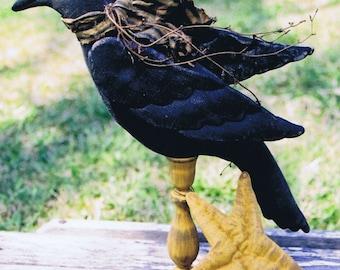 Primitive Folk Art Crow Doll E PATTERN