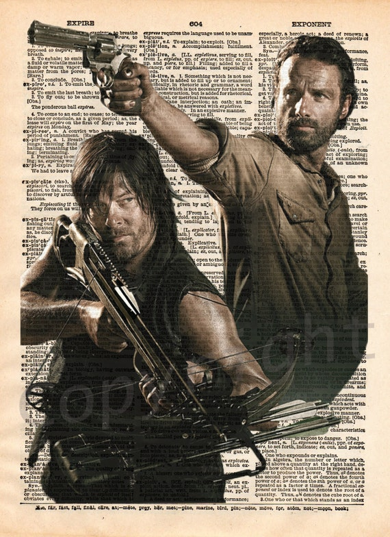The Walking Dead Daryl and Rick Dictionary Art Print