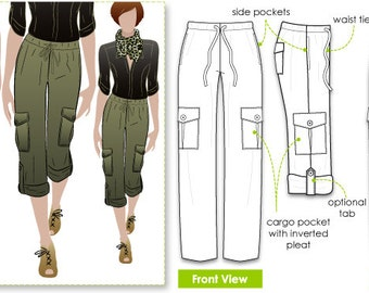 Kerry Cargo Pant // Sizes 10, 12 & 14 // Women's PDF Sewing Pattern by Style Arc, Cargo Pant Pattern, DIY clothes, downloadable patttern