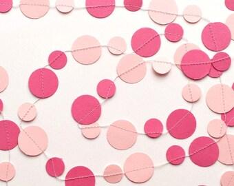 Pink Nursery Garland, nursery decor, baby shower, princess party, birthday, wedding