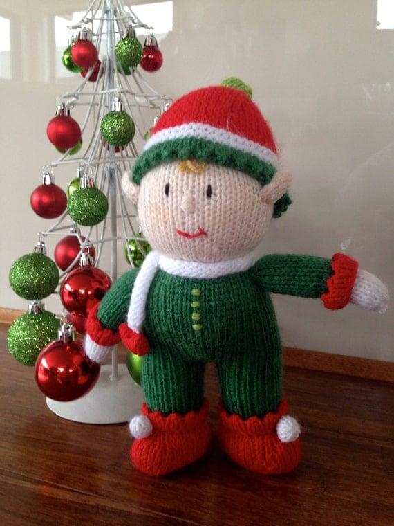 Knitting Pattern For Xmas Elf : Jean Greenhowe Alfie The Elf Christmas Holiday Festive