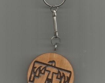 cherry native art thunderbird key chain southwestern keychain