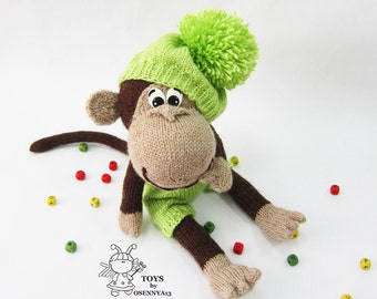 Naughty monkey-knitting pattern (knitted round)
