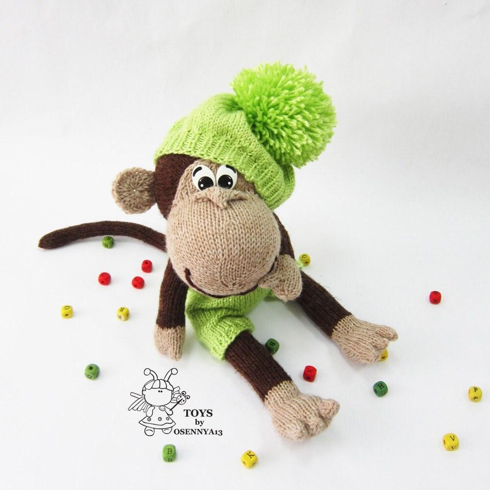Naughty monkey-knitting pattern knitted round