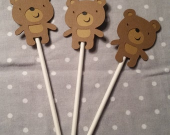 12 Bear Cupcake Toppers