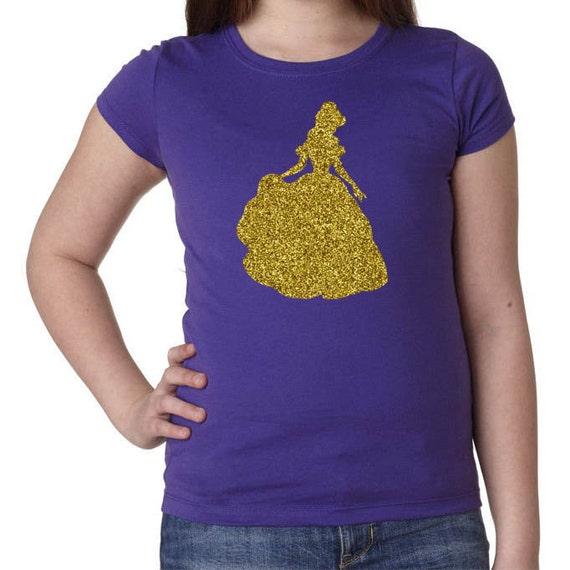 Items Similar To Glitter Girls Quot Belle Quot T Shirt Disney