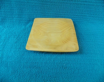 Handmade Square Yellow Birch Tray/Plate   #256