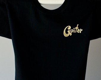 BAND INSTRUMENTS MUSIC Guitar T shirt. Electric Acoustic guitar gifts.