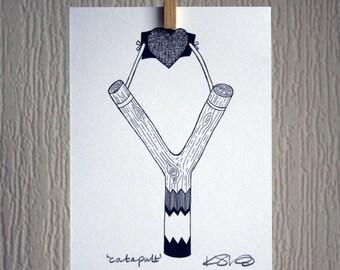 Catapult Heart - A5 Unframed Inkjet Print