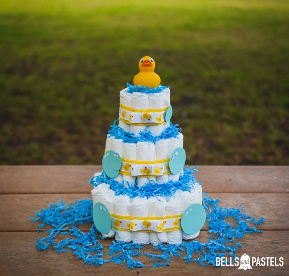Rubber Duck Diaper Cake Ducky Baby Shower Diaper Cake