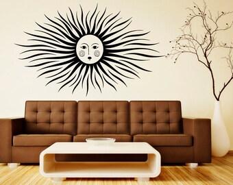 Sun Wall Decal Vinyl Sticker Interior Home Ethical Stars Symbol Decor Vinyl Art Wall Decor Bedroom (13suns)