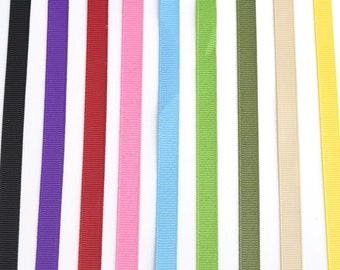 "Grosgrain Ribbon 3/8"" 9 mm - Ribbon by the yard - 10 yards - Decorative ribbon - Sewing - trim craft scrapbooking hair accessories"