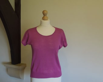 Vintage pink woven tee with elasticated bottom EU size 40