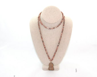 Hand Knotted Sunstone Necklace
