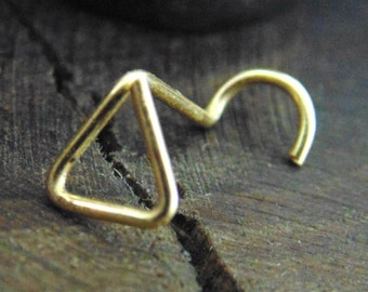 Triangle Nose Stud, Cartilage Earrings, Triangle tragus, cartilage Stud, Nose Ring, triangle Nose Ring, Open triangle, Nose Ring