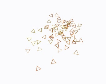 3mm Gold Hollow Triangles, Nail Art Decals