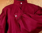 Colored Fencing Shirt with Buttoned Collar and Cuffs SCA Rapier Armor