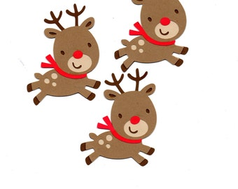 Reindeer die cut piece set of 3