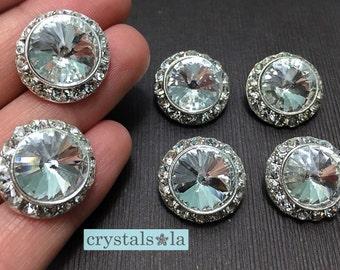 Crystal Buttons - BT71 - 6pcs