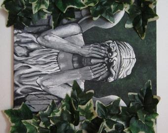 Weeping Angel - Original Mixed Media 3D Painting