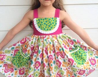 Watermelon Wonder Dress with Pockets