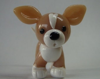 Little Chihuahua Miniature - Polymer Clay Dog - Animal Figure