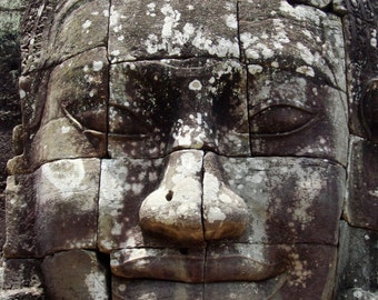 Angkor Wat temple face wall art photograph.