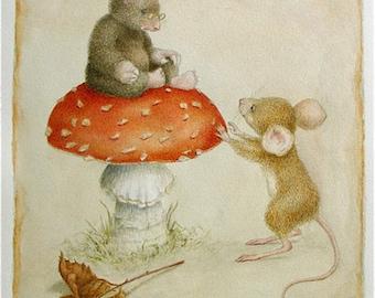 Moley and Morsel Giclee Print  #15/100