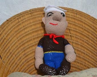 Crochet Pattern Popeye Doll : Items similar to PATTERN crochet popeye the sailor ...